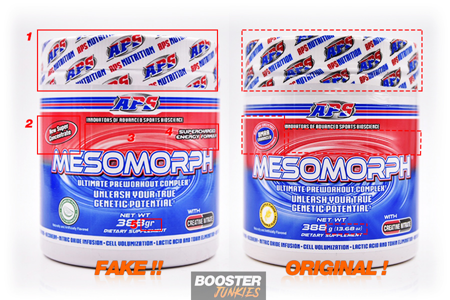 APS Nutriton Mesomorph Fake vs. Original