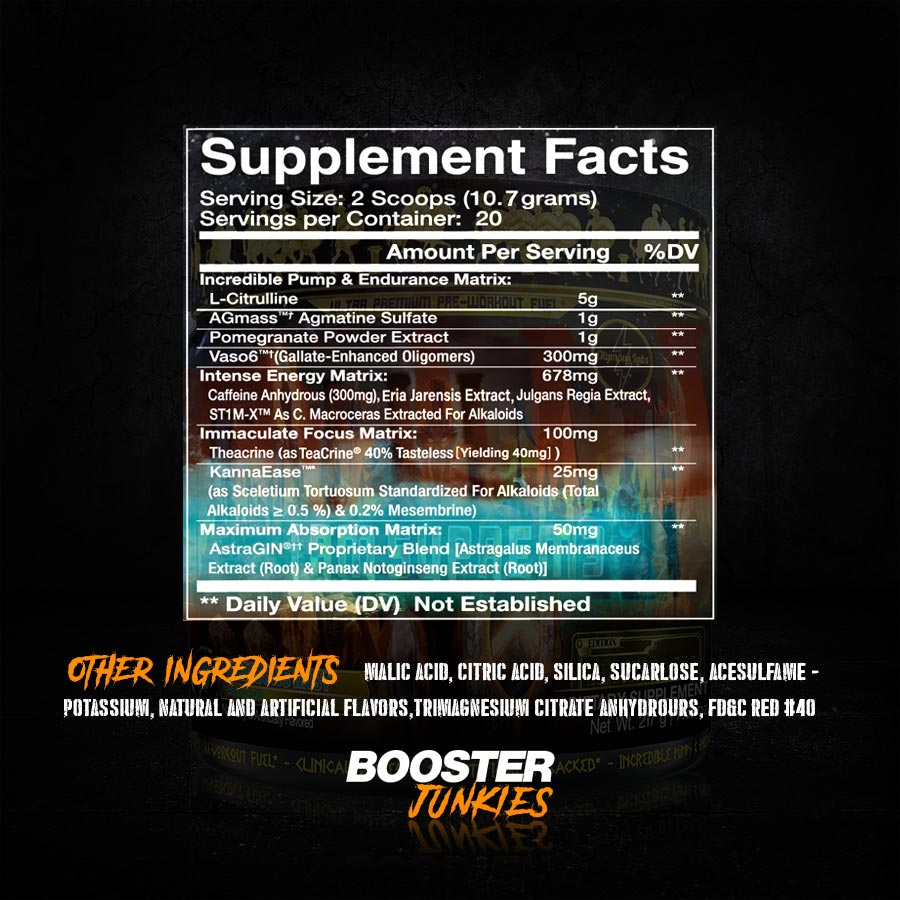 Olympus Labs I Am Suprem3 Supp Facts