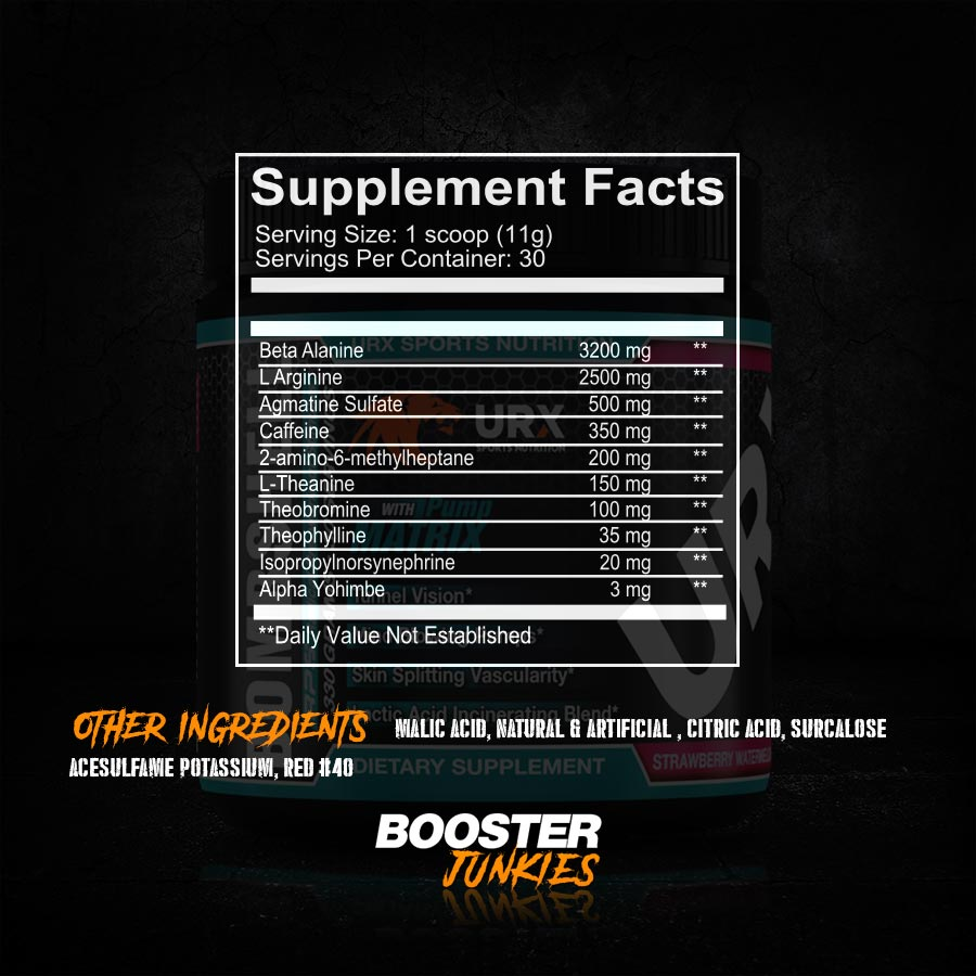 URX Bombshell Supp Facts