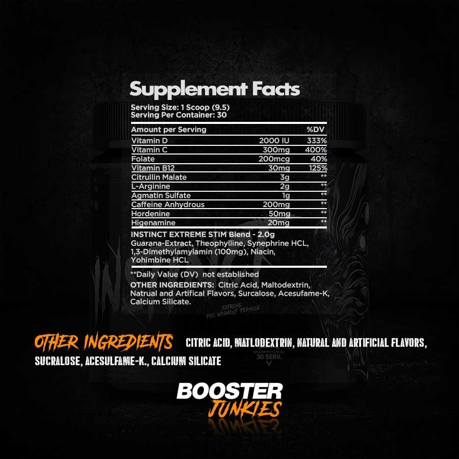 BlackOut Supplements Instinct Supplementfacts