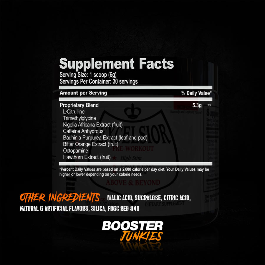 Imperial Nutrition Excelsior Supplement Facts
